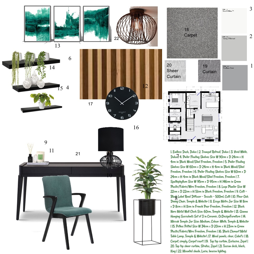 Module 8 Interior Design Mood Board by Kristy Wooden on Style Sourcebook