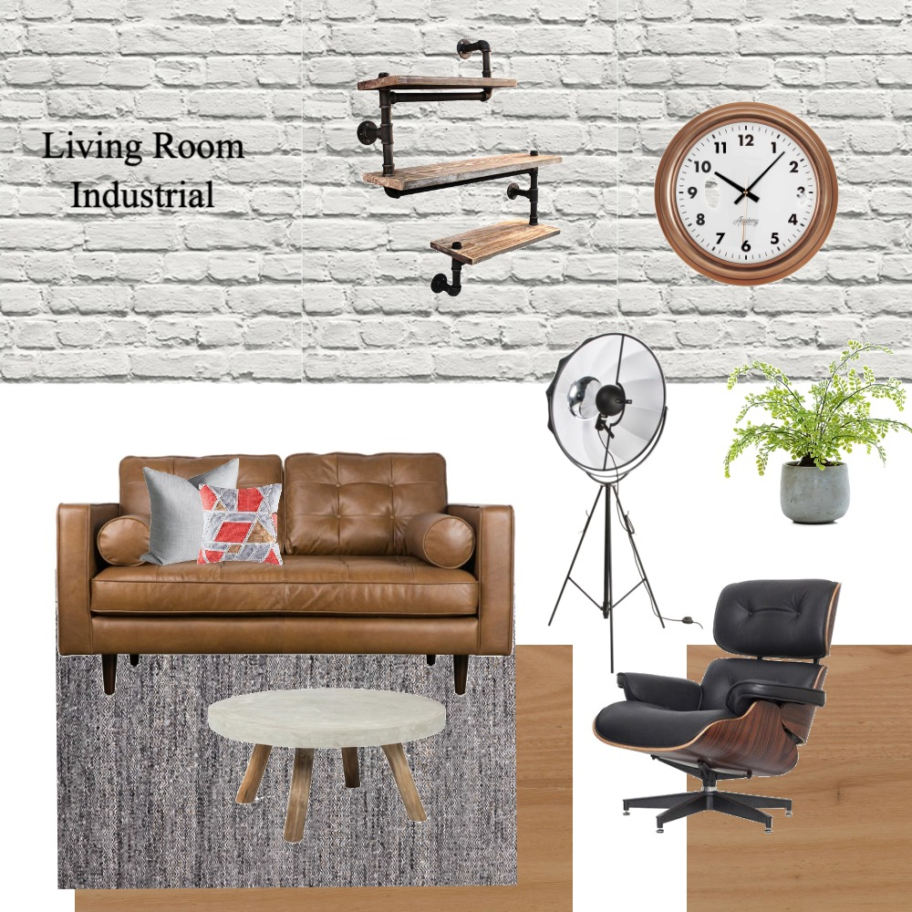Industrial Living Room Mood Board by Dreamfin Interiors on Style Sourcebook