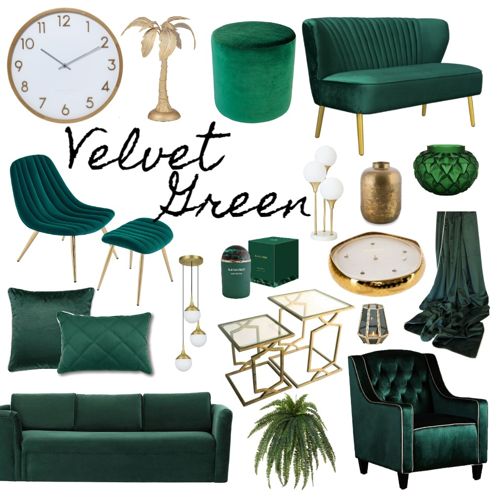 Velvet Green Interior Design Mood Board by belinda__brady on Style Sourcebook