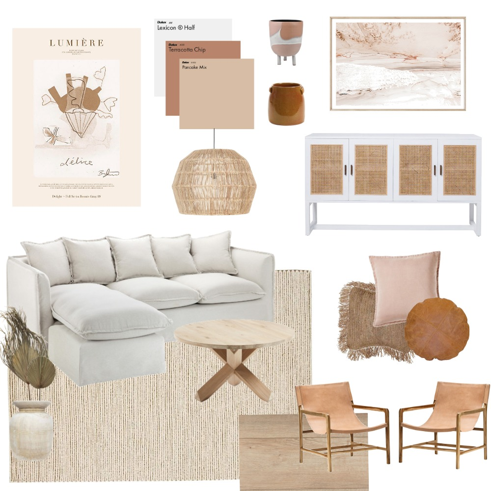 Warm Autumn Hues Loungeroom Interior Design Mood Board by athomewithcaitlyn on Style Sourcebook