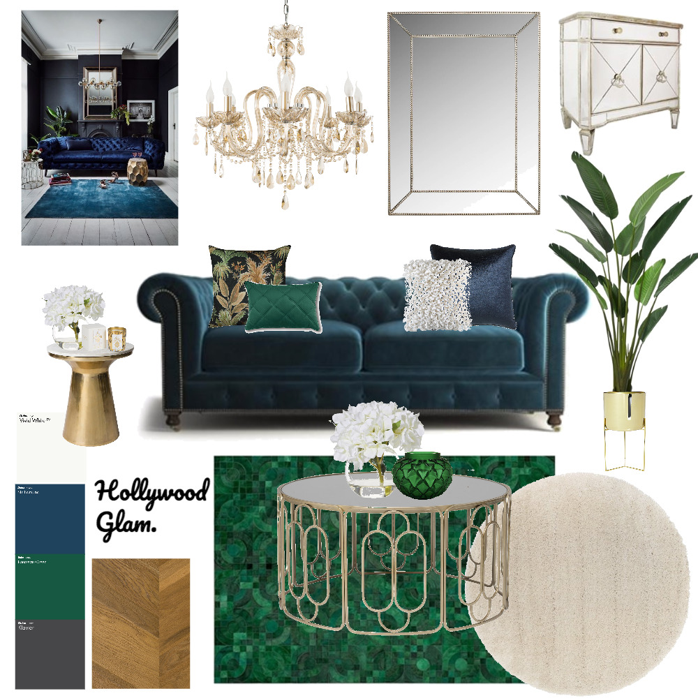 hollywood glam Interior Design Mood Board by Shelly Glendinning on Style Sourcebook