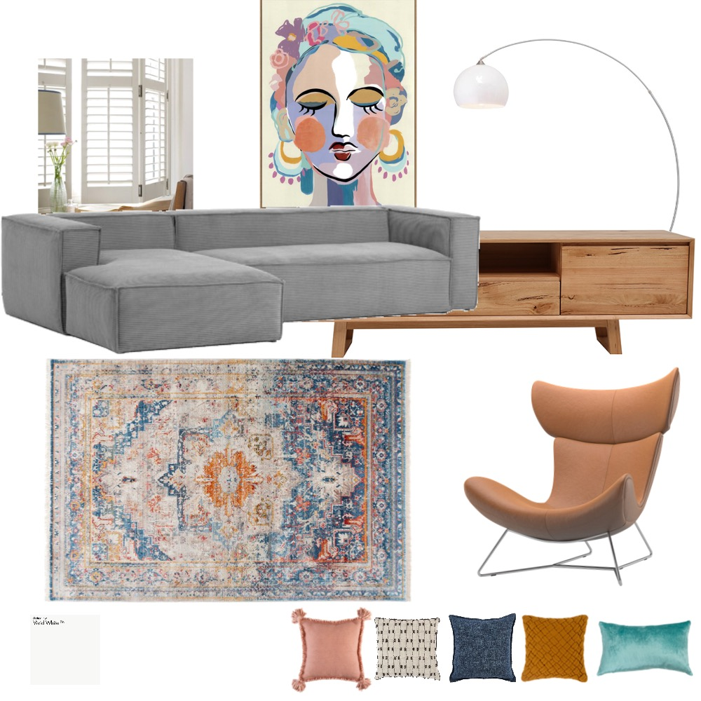 Media Room A12 V2 Interior Design Mood Board by ClairTew on Style Sourcebook