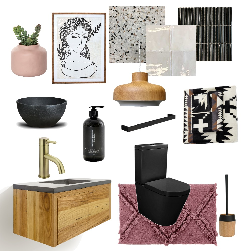 Toilet Room dark and girly Interior Design Mood Board by Dom_marie on Style Sourcebook