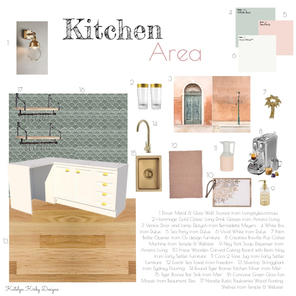 Kitchen Area for Office Interior Design Mood Board by Katelyn Kirby Interior Design on Style Sourcebook