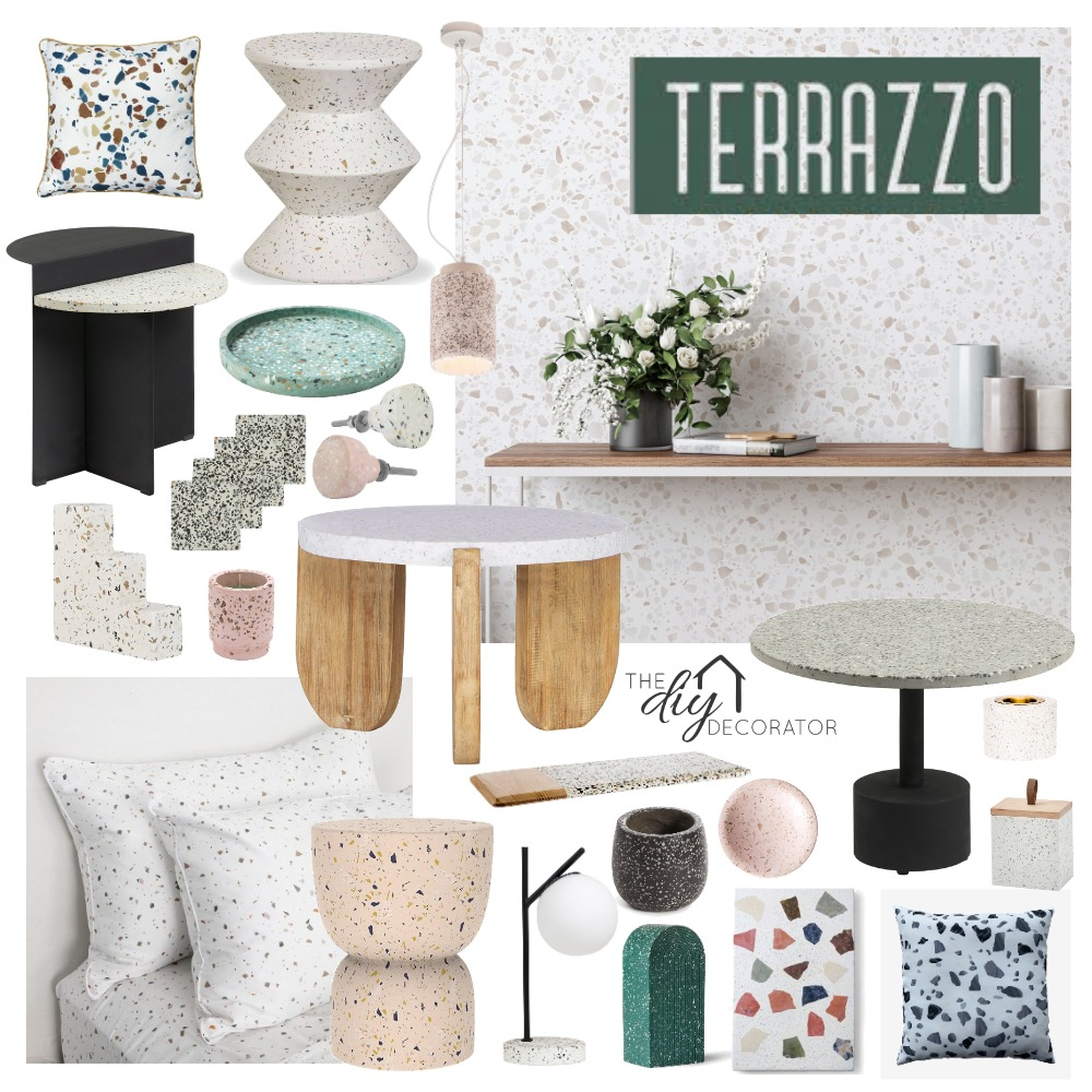Terrazzo Interior Design Mood Board by Thediydecorator on Style Sourcebook