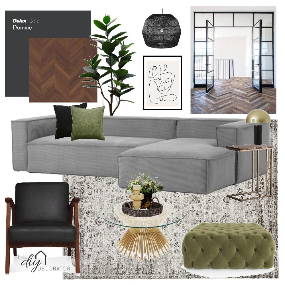 Black & Walnut Interior Design Mood Board by Thediydecorator on Style Sourcebook