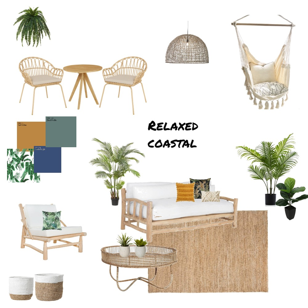 Relaxed Coastal Interior Design Mood Board by Melissa Schmidt on Style Sourcebook