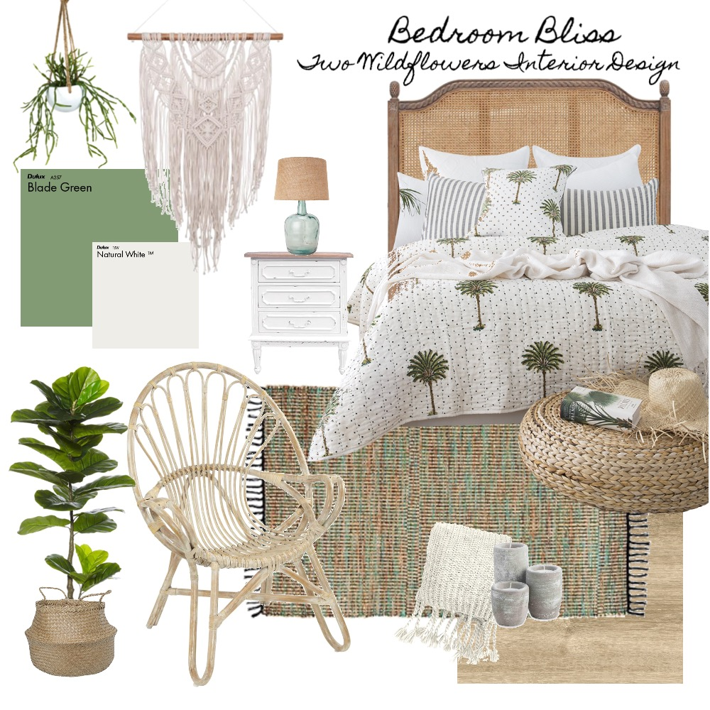 Coastal boho Interior Design Mood Board by Two Wildflowers on Style Sourcebook