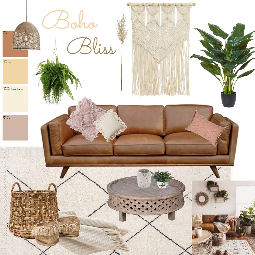 Boho Bliss Interior Design Mood Board by Ffion Thomas on Style Sourcebook