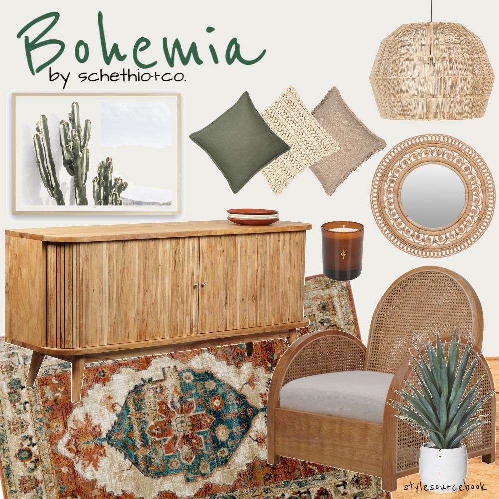 Bohemia Interior Design Mood Board by Schethio & Co. on Style Sourcebook