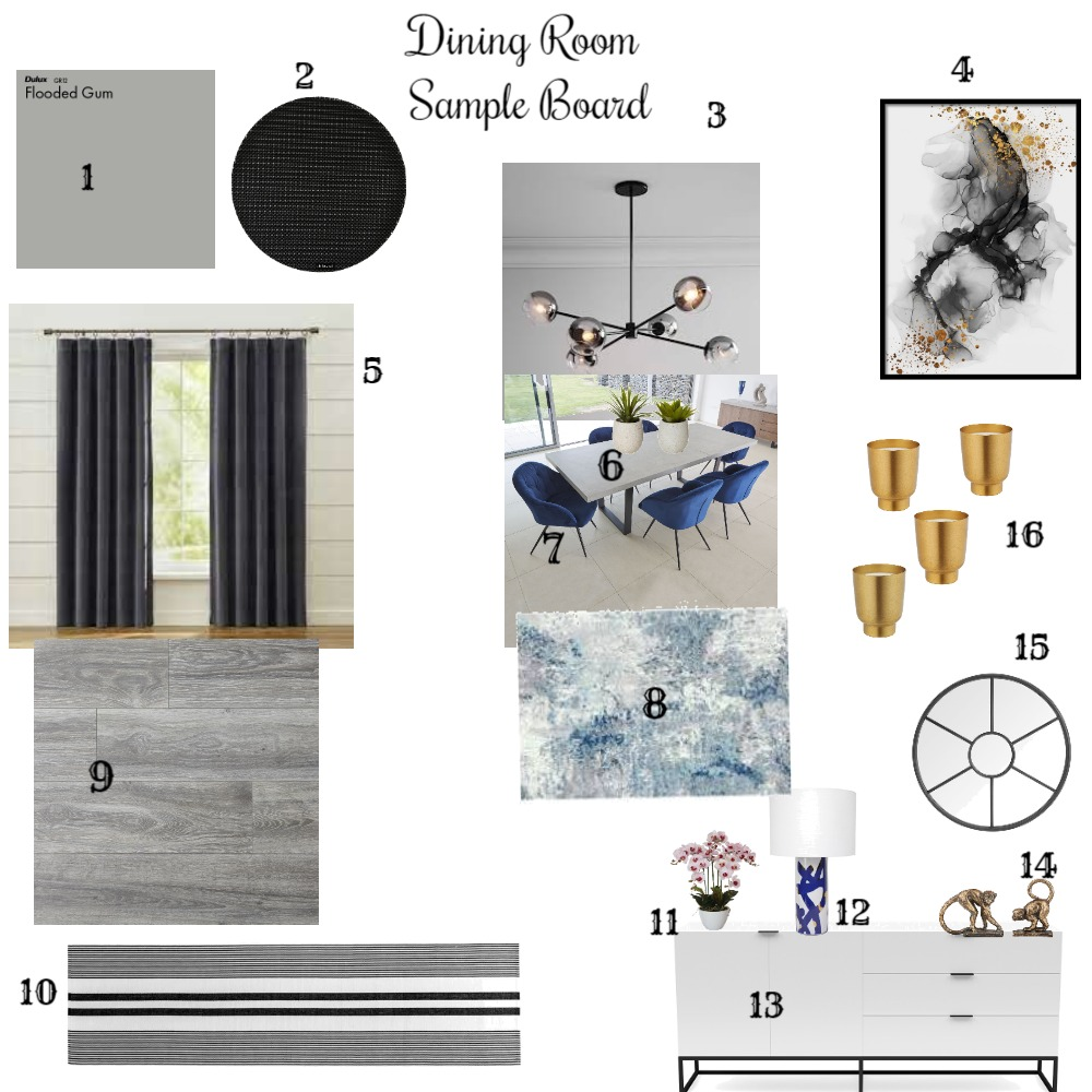 Dining Room Interior Design Mood Board by Nelly_s on Style Sourcebook