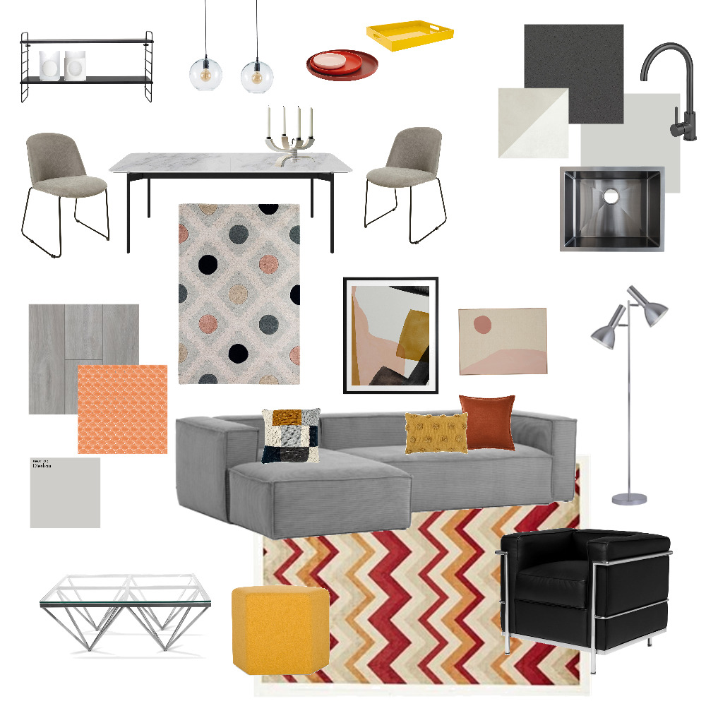 Bauhaus inspired 1b&1b apartment UPDATE Interior Design Mood Board by LejlaThome on Style Sourcebook