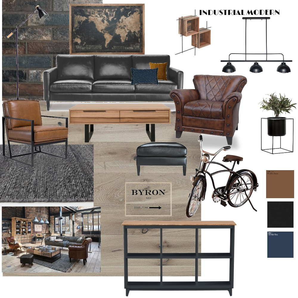 industrial modern2 Interior Design Mood Board by Diakosmo+ on Style Sourcebook