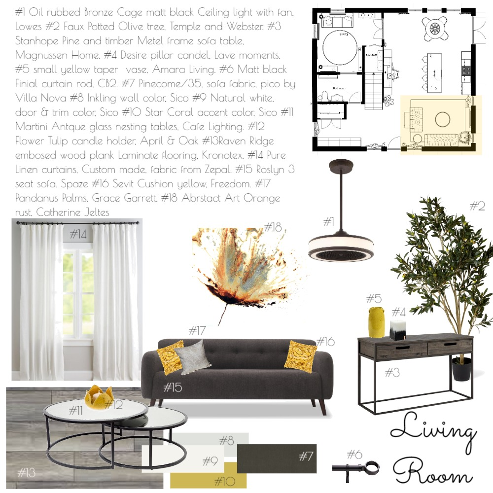 Living room #1 Interior Design Mood Board by AF Designs,            Interiors By Annalei Floriaint on Style Sourcebook