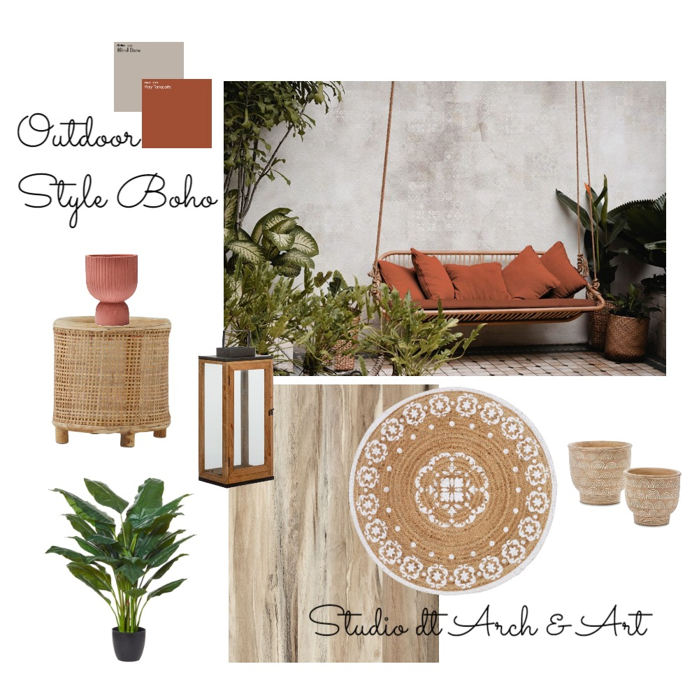 Garden Boho Interior Design Mood Board by Diana Tomasich on Style Sourcebook