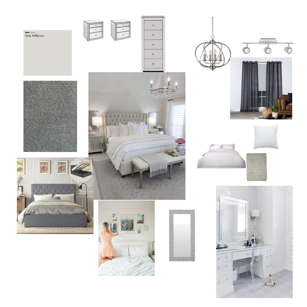 traditional/modern master bedroom Interior Design Mood Board by angelaes on Style Sourcebook