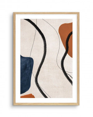 Abstract on Linen II by oliveetoriel.com, a Prints for sale on Style Sourcebook