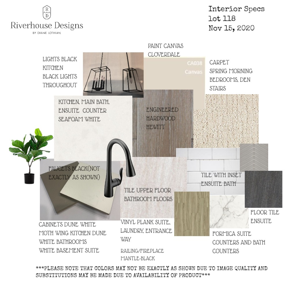 INTERIOR SPECS LOT 118 Interior Design Mood Board by riverhousedesigns on Style Sourcebook