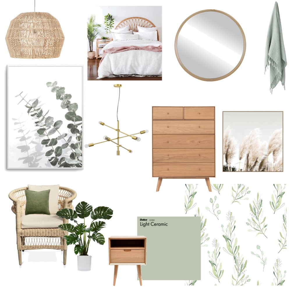 white, green and wood inspo Interior Design Mood Board by kph8502 on Style Sourcebook