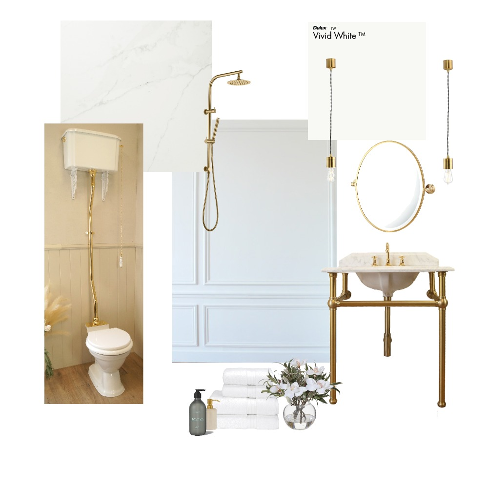 Brushed Brass Traditional Bathroom Interior Design Mood Board by Coco & Ella Interiors on Style Sourcebook