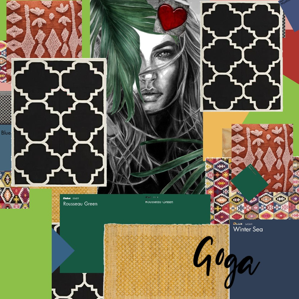Foto tapet Goga Interior Design Mood Board by Gordana on Style Sourcebook