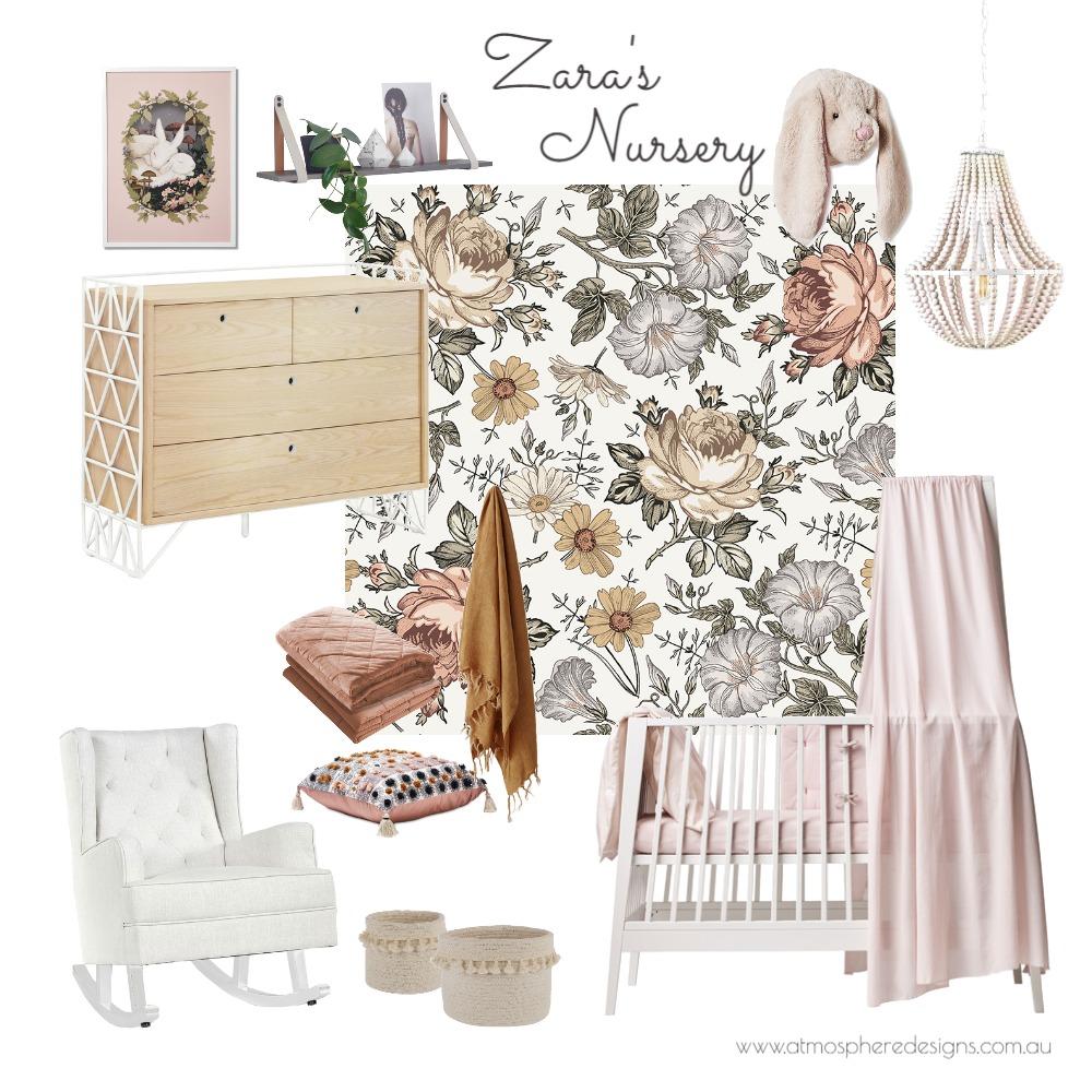 Zara's Floral Nursery Interior Design Mood Board by Atmosphere Designs on Style Sourcebook