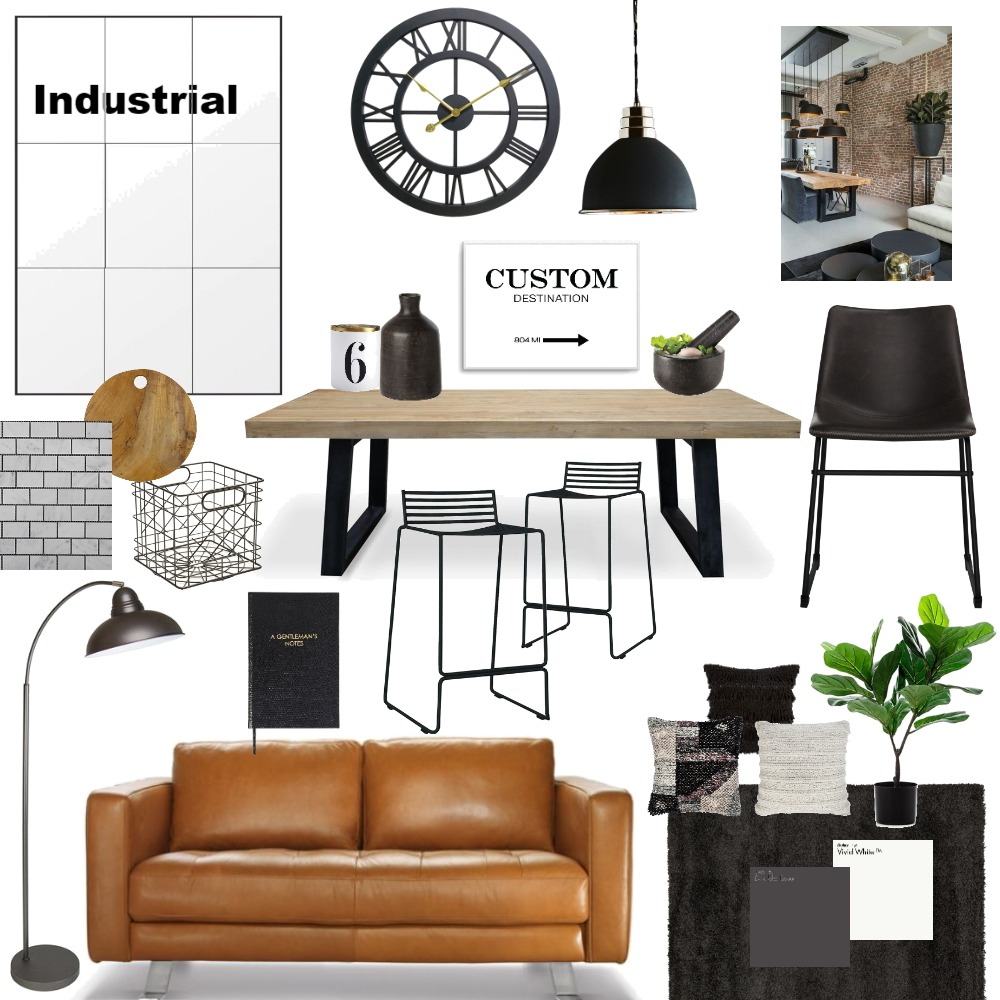Industrial3 Interior Design Mood Board by SusieQ on Style Sourcebook