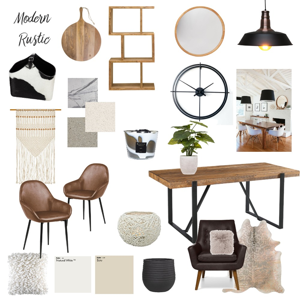 Modern Rustic2 Interior Design Mood Board by SusieQ on Style Sourcebook
