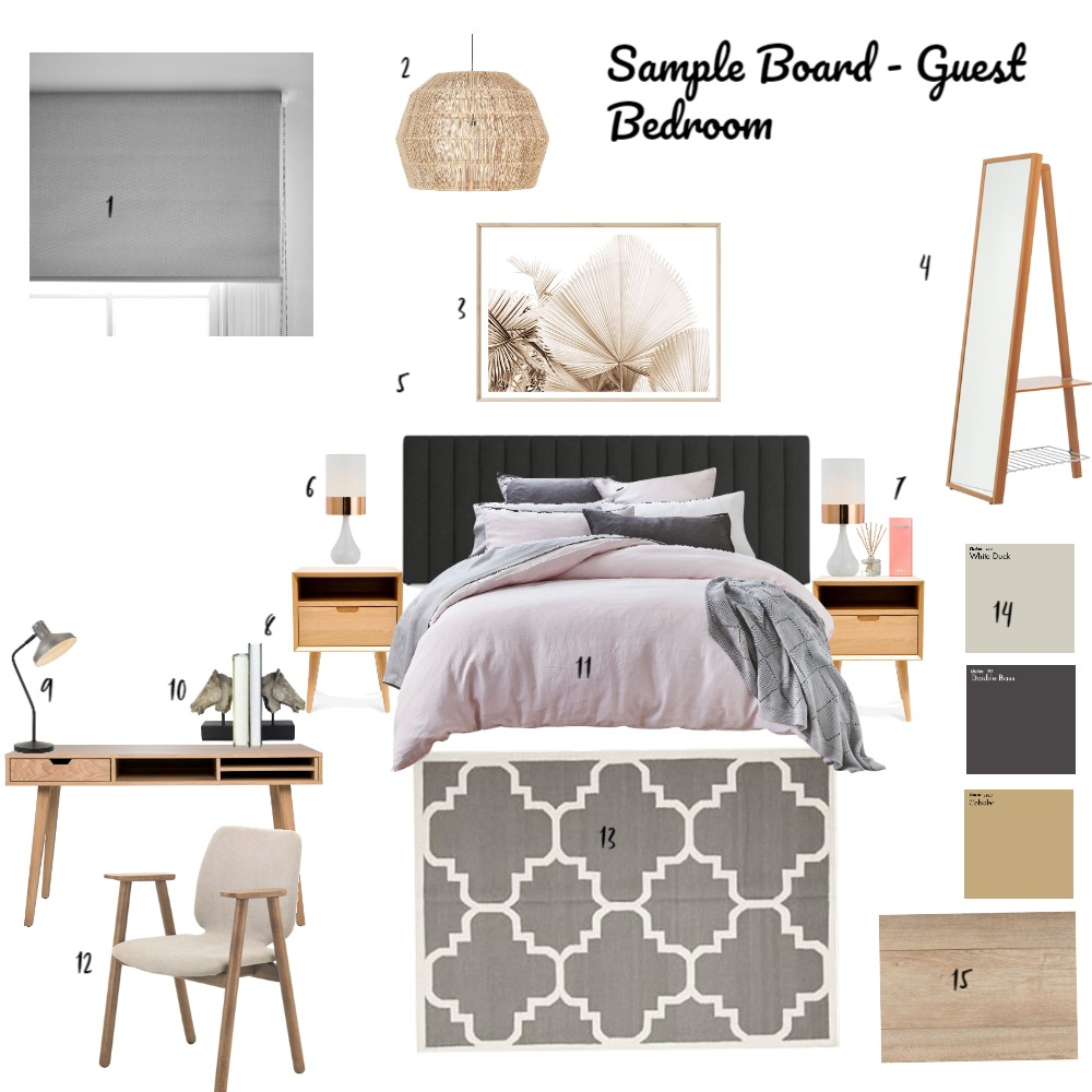 Guest Bedroom Interior Design Mood Board by Nelly_s on Style Sourcebook