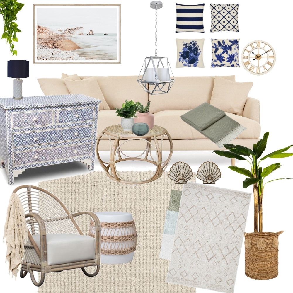 Hamptons mood board Interior Design Mood Board by kristina1111 on Style Sourcebook