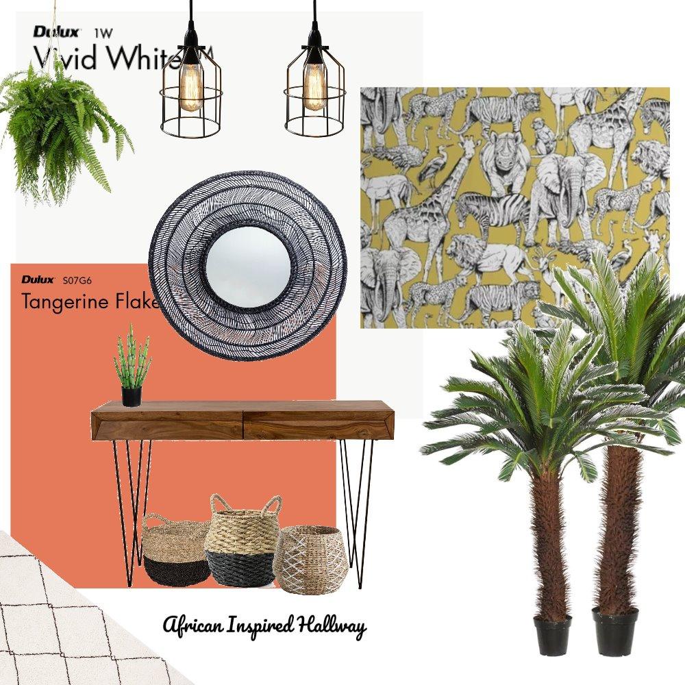 African Inspired Hallway Interior Design Mood Board by HGInteriorDesign on Style Sourcebook