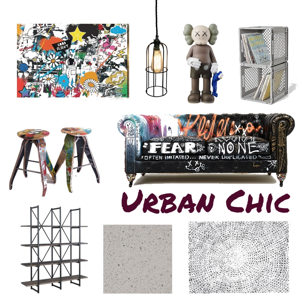 Urban Chic Interior Design Mood Board by ajmelb on Style Sourcebook