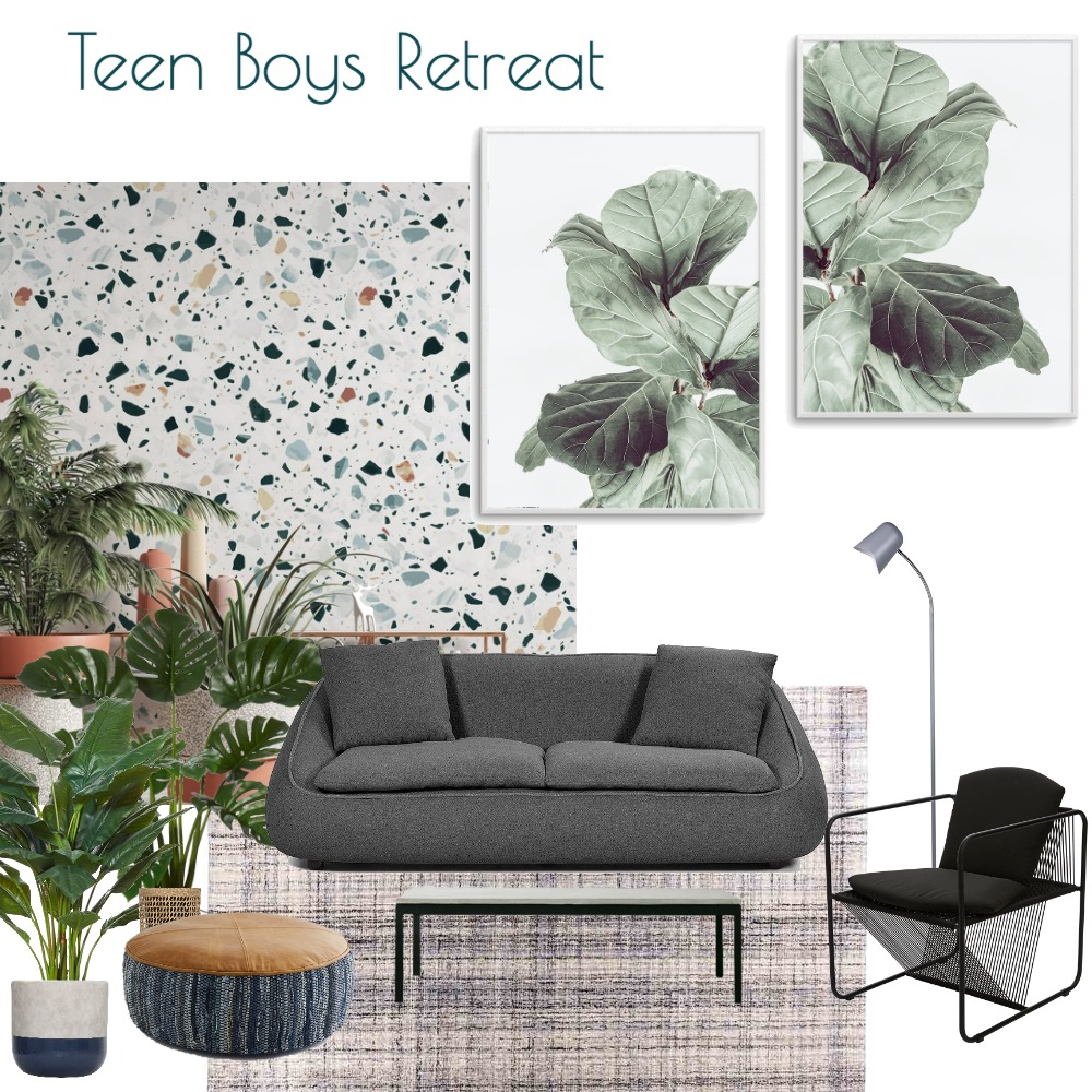 Teen Boys Retreat Interior Design Mood Board by Olive et Oriel on Style Sourcebook
