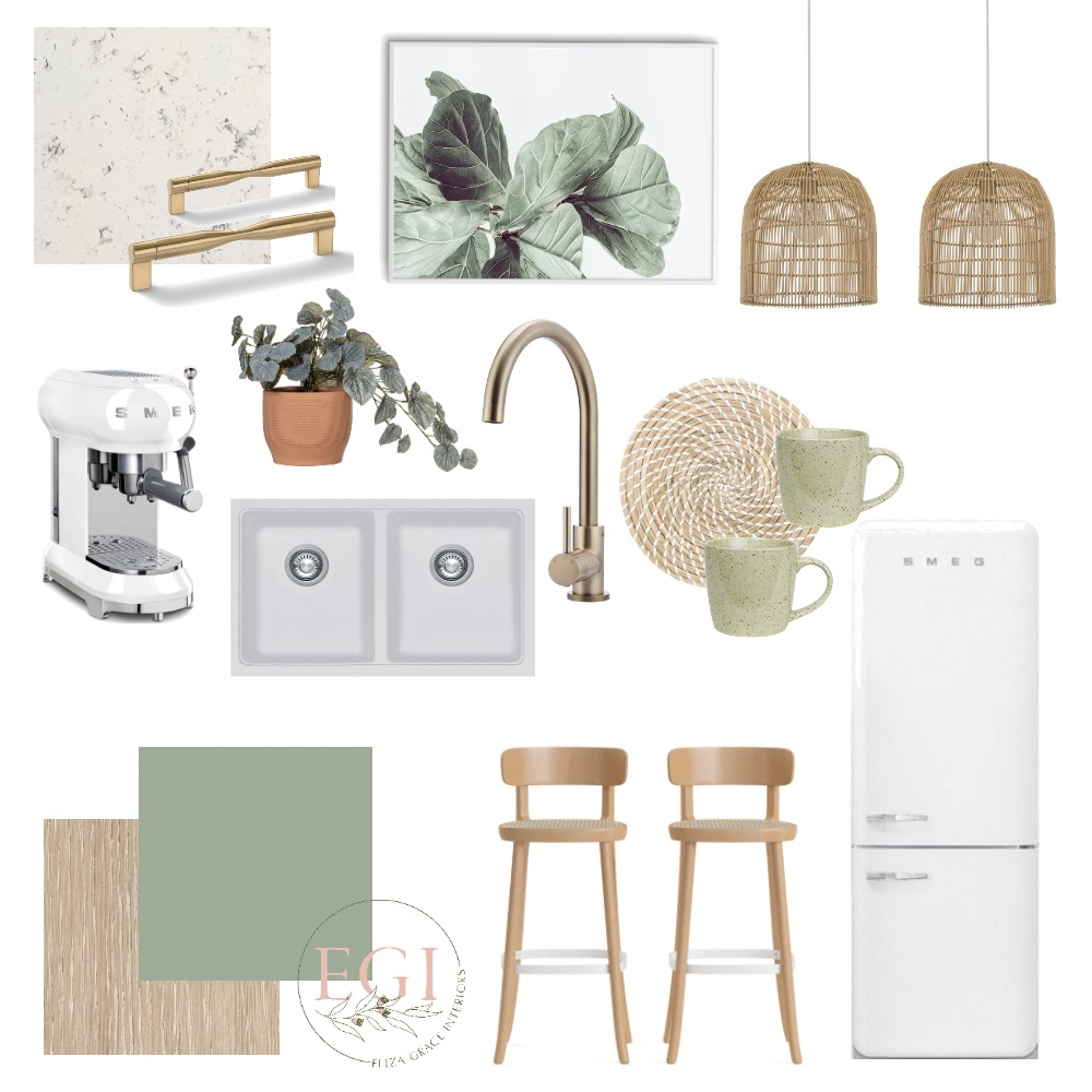 Sage Kitchen Interior Design Mood Board by Eliza Grace Interiors on Style Sourcebook