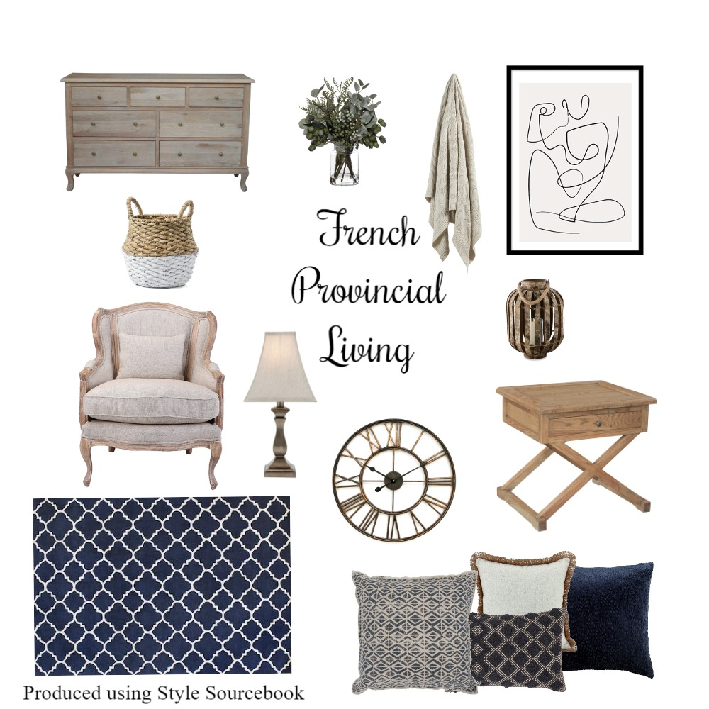 French Provincial Living Interior Design Mood Board by whytedesignstudio on Style Sourcebook