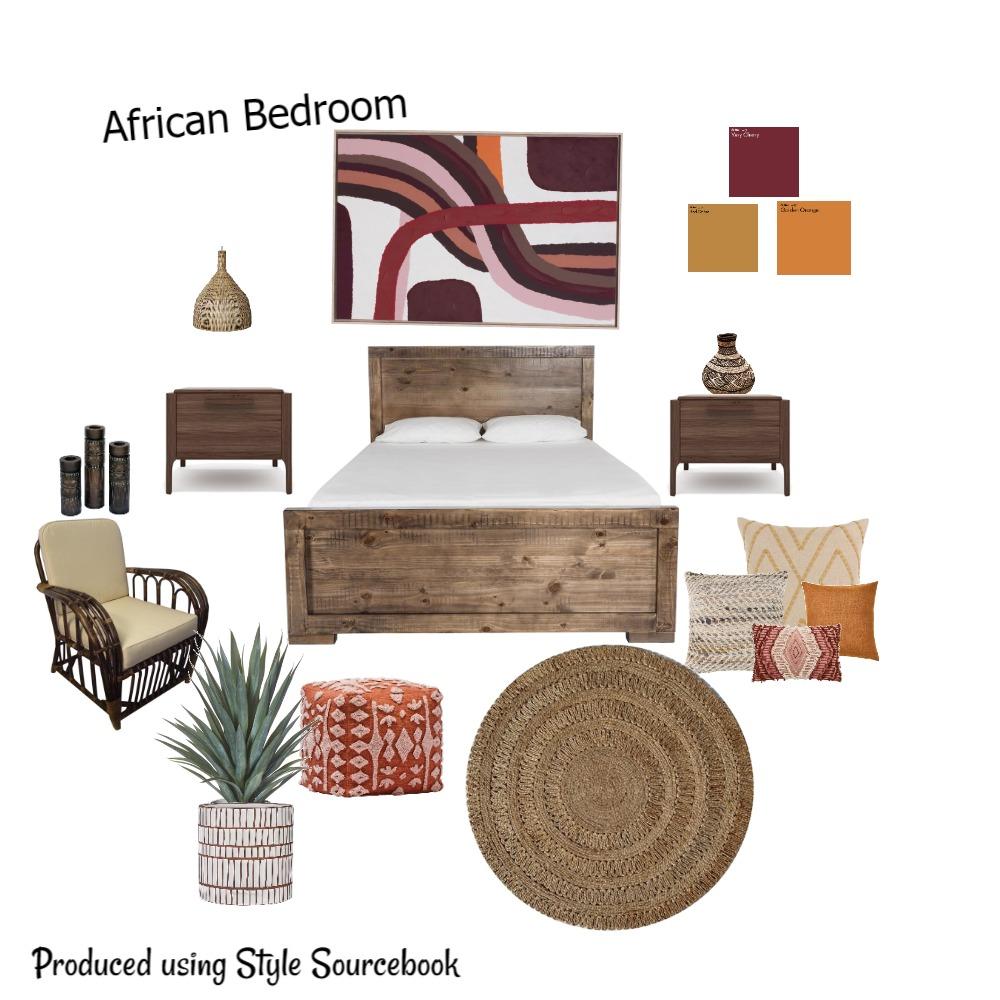 African Bedroom Interior Design Mood Board by whytedesignstudio on Style Sourcebook