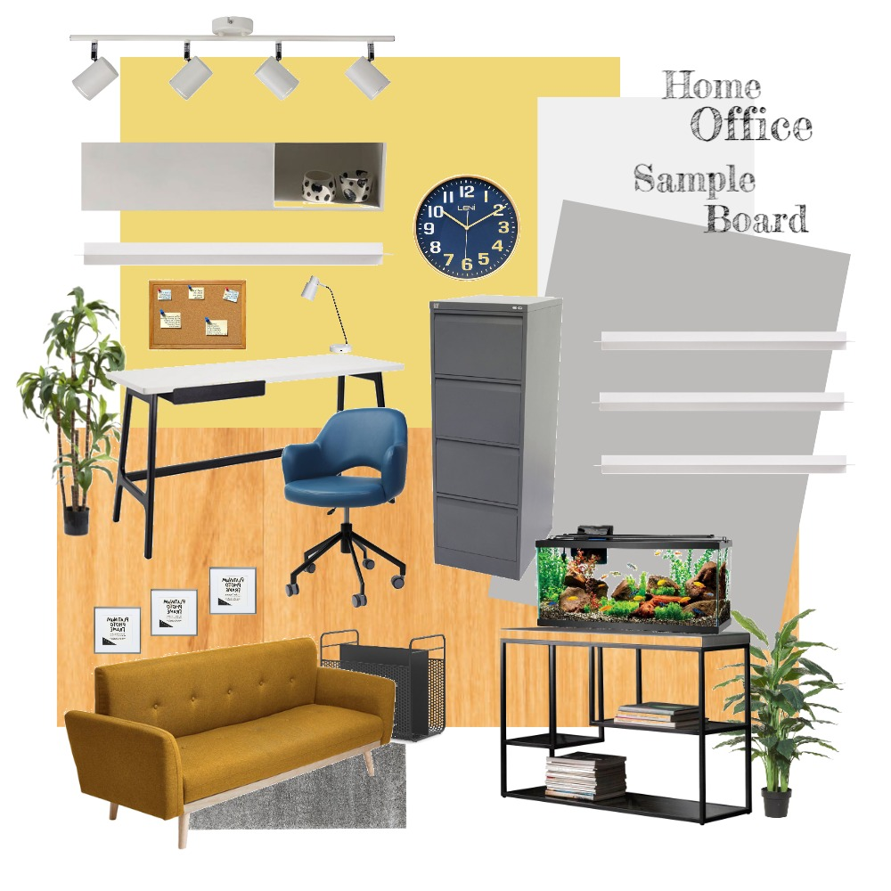 Home Office Sample Board Interior Design Mood Board by Gia123 on Style Sourcebook