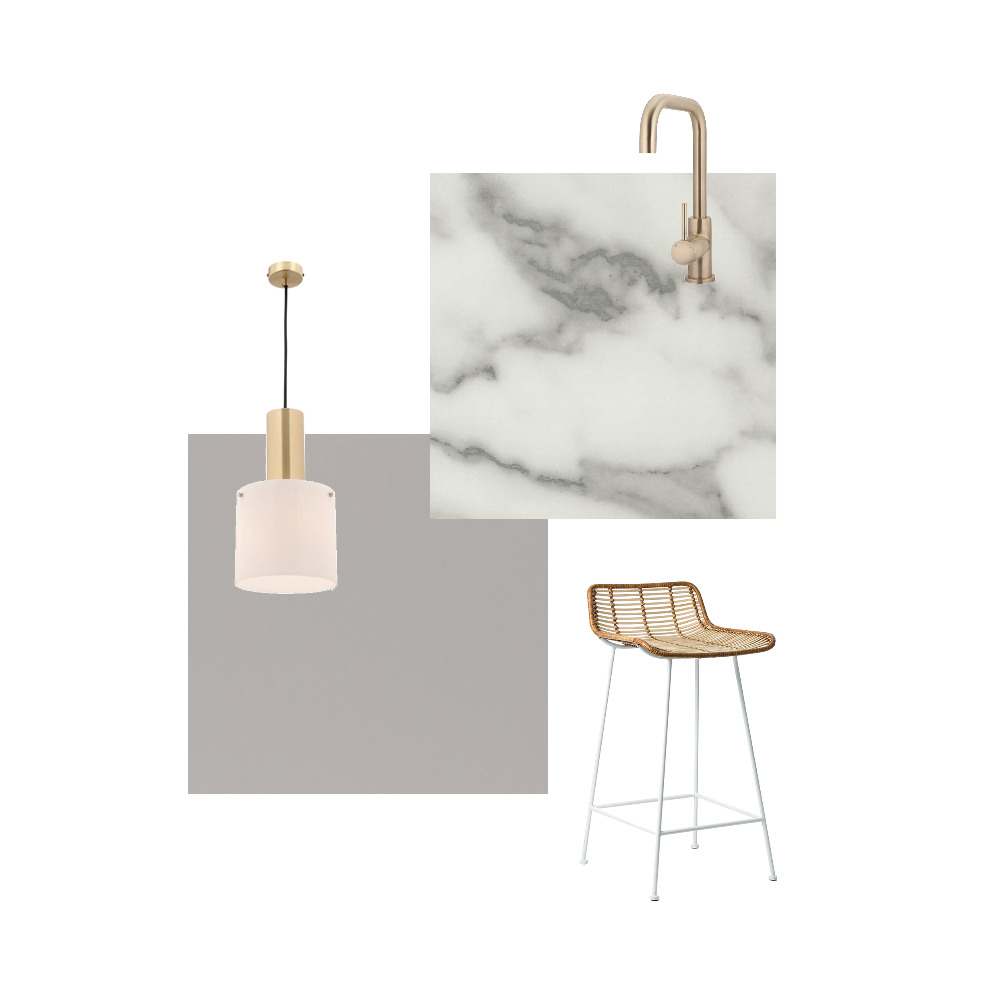 Grey and Marble Kitchen Interior Design Mood Board by Mel on Style Sourcebook