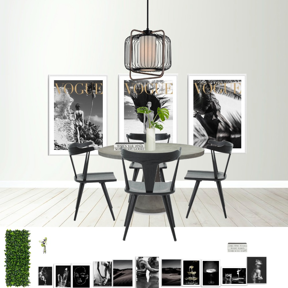 black Interior Design Mood Board by thedecorholic on Style Sourcebook
