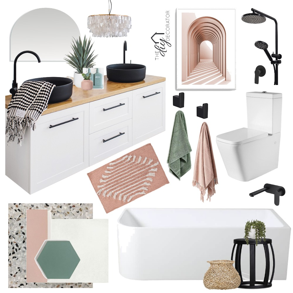 Bathroom Space 2 Interior Design Mood Board by Thediydecorator on Style Sourcebook