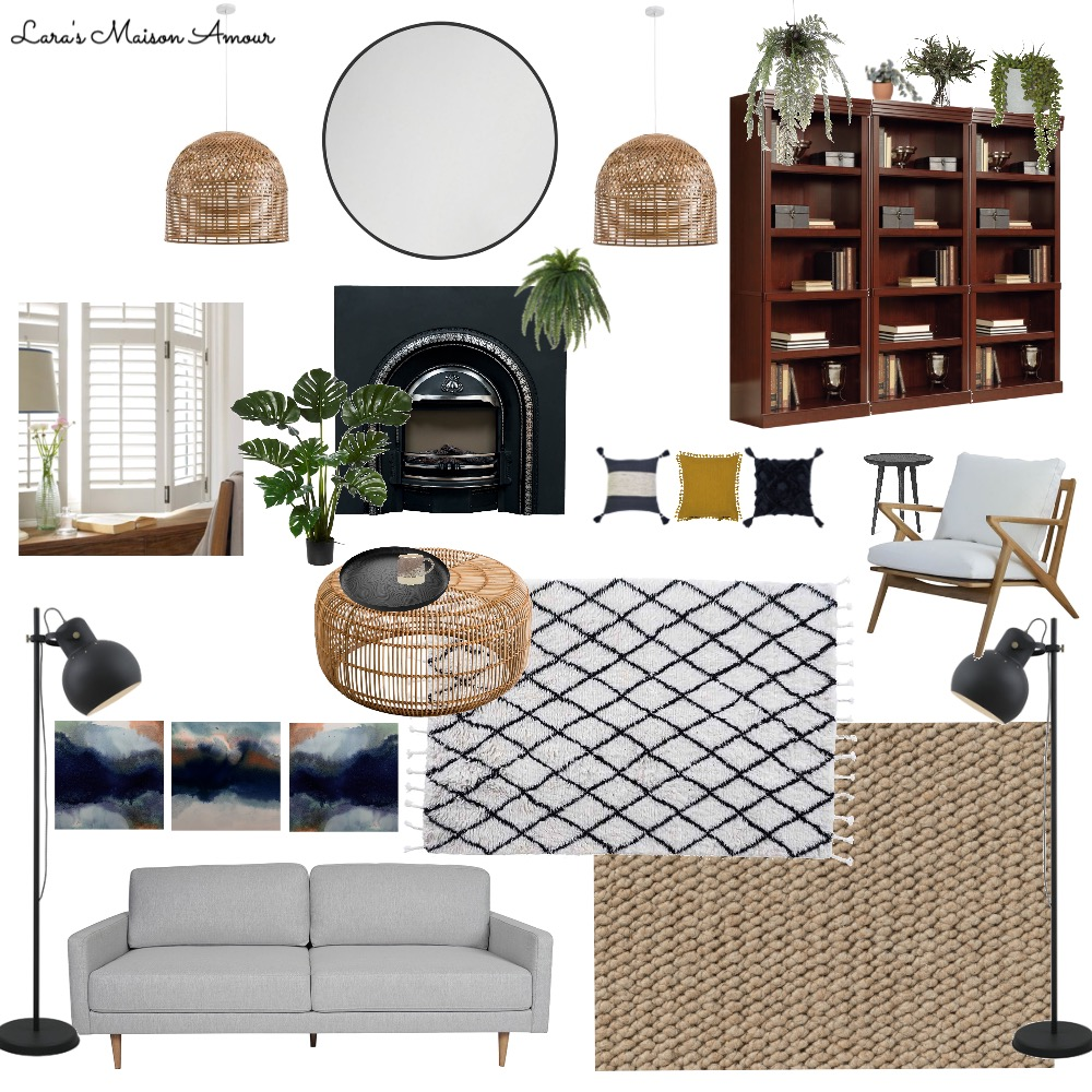 LMA- Laura's Living Room Interior Design Mood Board by Lara' Maison Amour on Style Sourcebook