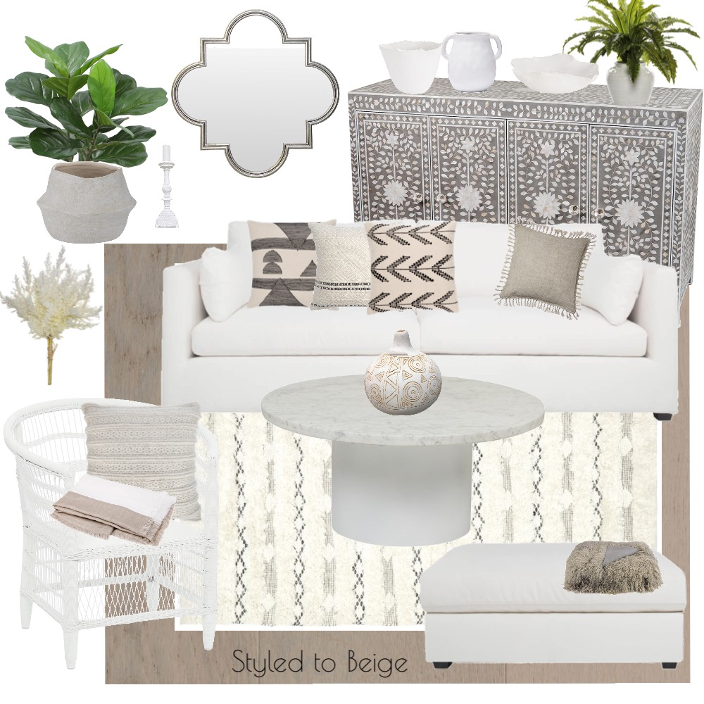Styled to Beige Interior Design Mood Board by Stylefusion on Style Sourcebook