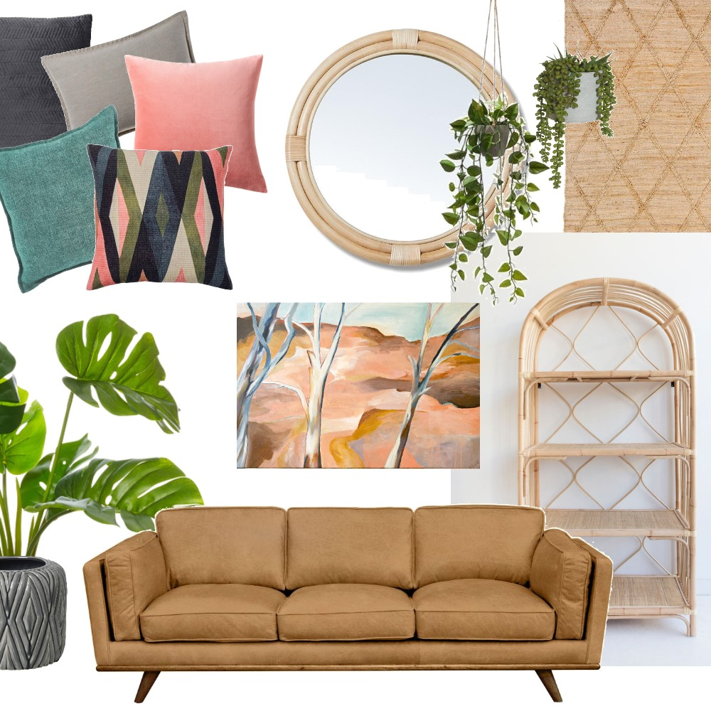 Rattan Living - Ghost land Interior Design Mood Board by Tessa Marie Art on Style Sourcebook