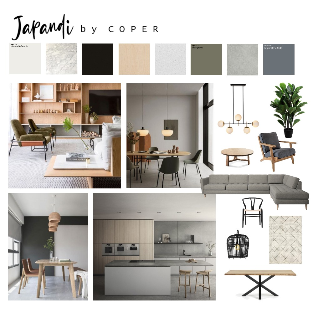 japandi Interior Design Mood Board by COPER on Style Sourcebook