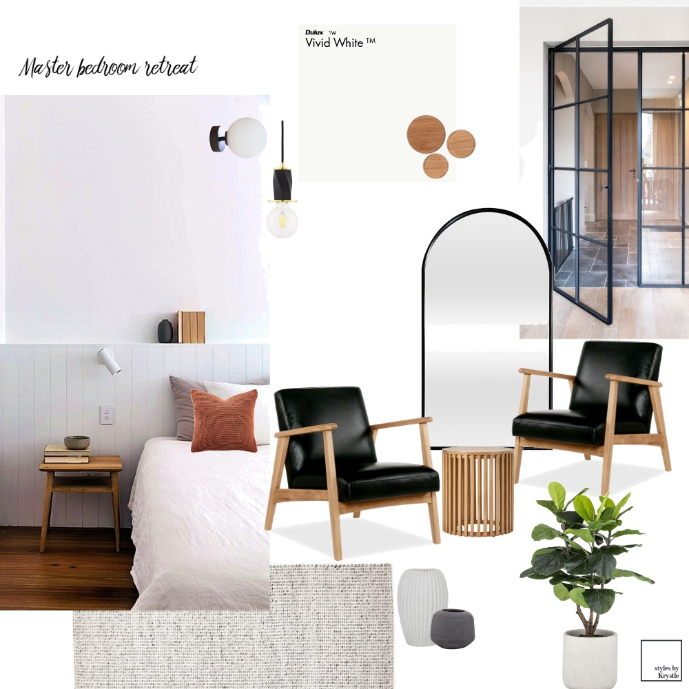 Master bedroom retreat Interior Design Mood Board by styles by Krystle on Style Sourcebook