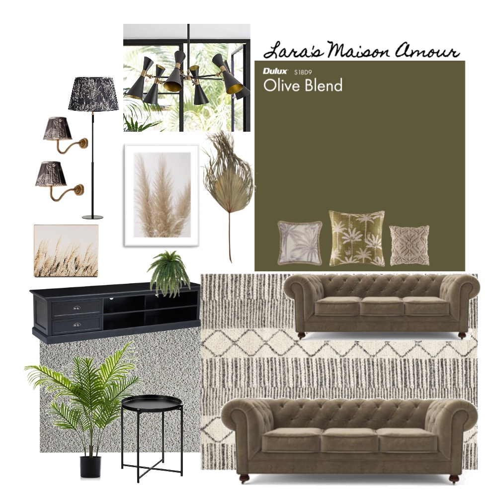 LMA - Lucy's Living Room Interior Design Mood Board by Lara' Maison Amour on Style Sourcebook