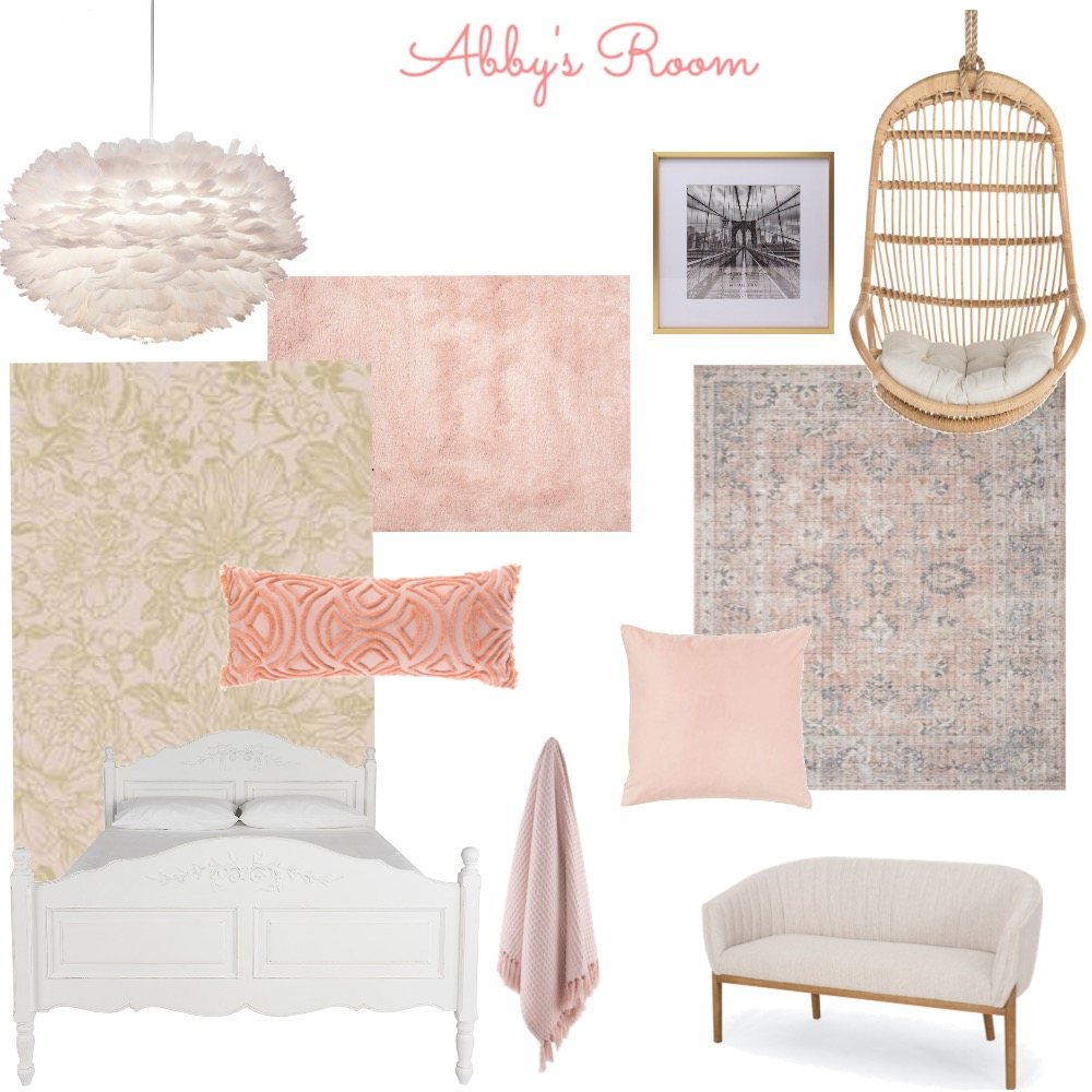 ABBY'S ROOM Interior Design Mood Board by staunton on Style Sourcebook