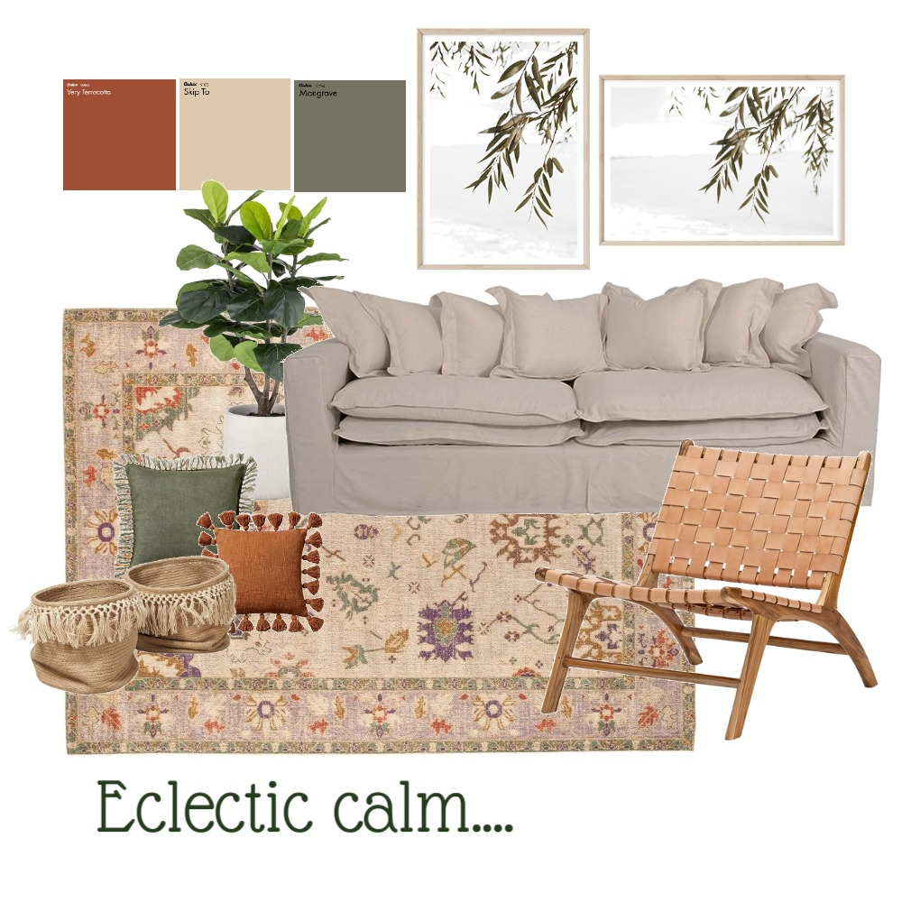Eclectic Calm Interior Design Mood Board by taketwointeriors on Style Sourcebook
