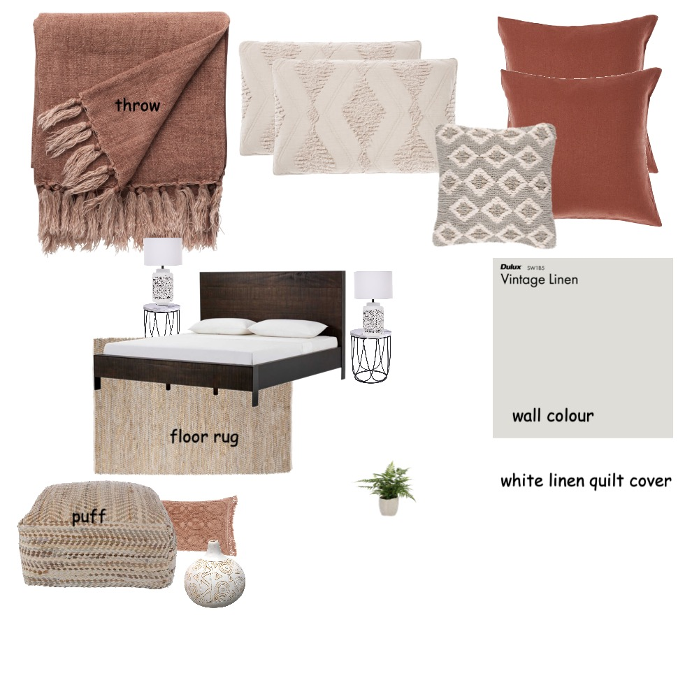 Kate Hodge bedroom Interior Design Mood Board by Graceful Lines Interiors on Style Sourcebook