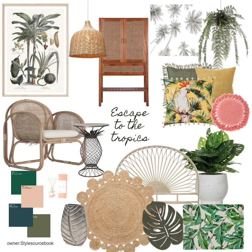 Tropical Interior Design Mood Board by vivid interiors on Style Sourcebook